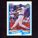 1990 Fleer Baseball #317 Glenn Braggs - Milwaukee Brewers