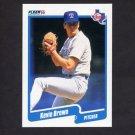 1990 Fleer Baseball #291 Kevin Brown - Texas Rangers NM-M