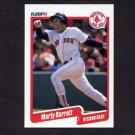 1990 Fleer Baseball #266 Marty Barrett - Boston Red Sox NM