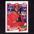 1990 Fleer Baseball #262 Milt Thompson - St. Louis Cardinals