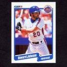1990 Fleer Baseball #208 Howard Johnson - New York Mets