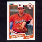 1990 Fleer Baseball #191 Mark Thurmond - Baltimore Orioles