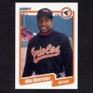 1990 Fleer Baseball #175 Mike Devereaux - Baltimore Orioles
