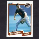1990 Fleer Baseball #163 Mike Pagliarulo - San Diego Padres
