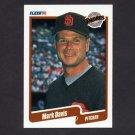 1990 Fleer Baseball #155 Mark Davis - San Diego Padres