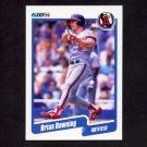 1990 Fleer Baseball #130 Brian Downing - California Angels