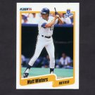 1990 Fleer Baseball #124 Matt Winters RC - Kansas City Royals