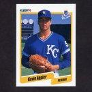 1990 Fleer Baseball #100 Kevin Appier - Kansas City Royals