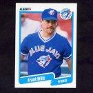 1990 Fleer Baseball #098 Frank Wills - Toronto Blue Jays