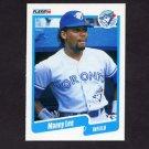 1990 Fleer Baseball #086 Manny Lee - Toronto Blue Jays