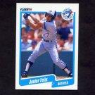 1990 Fleer Baseball #079 Junior Felix - Toronto Blue Jays