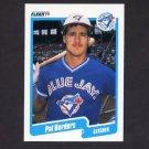 1990 Fleer Baseball #077 Pat Borders - Toronto Blue Jays