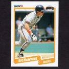 1990 Fleer Baseball #063 Kirt Manwaring - San Francisco Giants