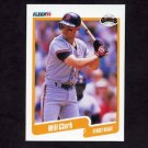 1990 Fleer Baseball #054 Will Clark - San Francisco Giants