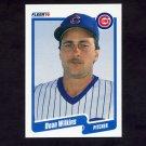 1990 Fleer Baseball #047 Dean Wilkins RC - Chicago Cubs