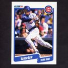 1990 Fleer Baseball #036 Vance Law - Chicago Cubs