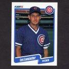 1990 Fleer Baseball #035 Les Lancaster - Chicago Cubs