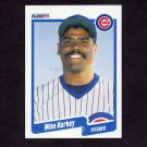 1990 Fleer Baseball #033 Mike Harkey - Chicago Cubs