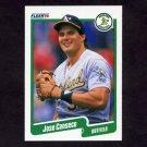 1990 Fleer Baseball #003 Jose Canseco - Oakland A's