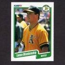 1990 Fleer Baseball #001 Lance Blankenship - Oakland A's