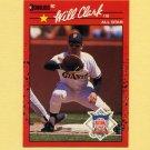 1990 Donruss Baseball #707B Will Clark AS - San Francisco Giants