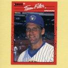 1990 Donruss Baseball #687 Tom Filer - Milwaukee Brewers