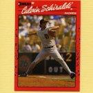 1990 Donruss Baseball #672 Calvin Schiraldi - San Diego Padres