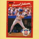 1990 Donruss Baseball #654B Howard Johnson AS - New York Mets