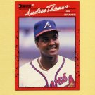 1990 Donruss Baseball #263 Andres Thomas - Atlanta Braves