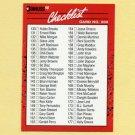 1990 Donruss Baseball #200A Checklist 130-231