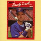 1990 Donruss Baseball #199 Randy Bush - Minnesota Twins