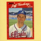 1990 Donruss Baseball #050 Jeff Treadway - Atlanta Braves