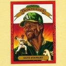 1990 Donruss Baseball #006 Dave Stewart DK - Oakland A's