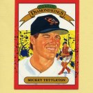 1990 Donruss Baseball #005 Mickey Tettleton DK - Baltimore Orioles
