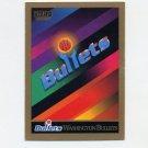 1990-91 SkyBox Basketball #354 Washington Bullets Team Checklist