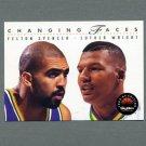 1993-94 SkyBox Premium Basketball #317 Felton Spencer / Luther Wright - Utah Jazz