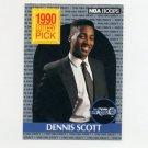 1990-91 Hoops Basketball #393 Dennis Scott LS RC - Orlando Magic