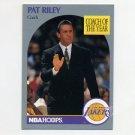 1990-91 Hoops Basketball #317 Pat Riley CO SP - Los Angeles Lakers