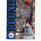 1994-95 Hoops Basketball #361 Sharone Wright RC - Philadelphia 76ers