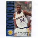 1994-95 Hoops Basketball #327 Carlos Rogers RC - Golden State Warriors