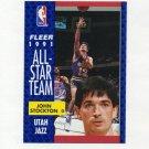 1991-92 Fleer Basketball #217 John Stockton AS - Utah Jazz NM-M