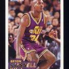 1993-94 Fleer Basketball #389 Bryon Russell RC - Utah Jazz