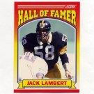 1990 Score Football #598 Jack Lambert HOF - Pittsburgh Steelers