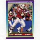 1990 Score Football #482 Brent Williams - New England Patriots