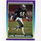 1990 Score Football #477 Lionel Washington - Los Angeles Raiders