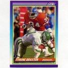 1990 Score Football #474 Tyrone Braxton - Denver Broncos