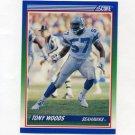 1990 Score Football #391 Tony Woods - Seattle Seahawks