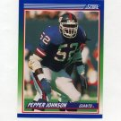 1990 Score Football #361 Pepper Johnson - New York Giants