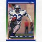 1990 Score Football #343 John L. Williams - Seattle Seahawks