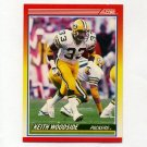 1990 Score Football #257 Keith Woodside - Green Bay Packers
